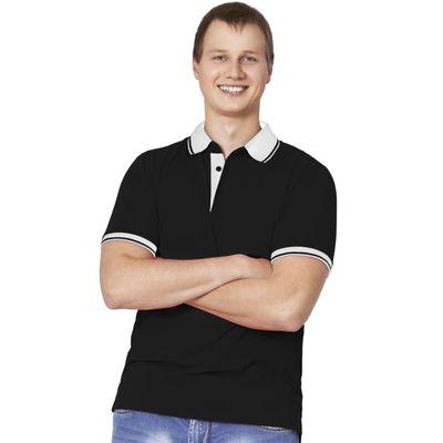 Рубашка-поло мужская StanContrast, размер 54, цвет чёрный 185 м/г 04C