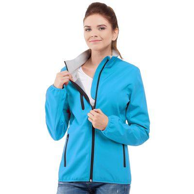 Куртка женская StanThermoSkinWomen, размер 52, цвет лазурный 275 г/м 70W
