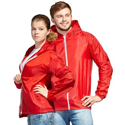 Ветровка муж/жен StanWind, размер 44, цвет красный