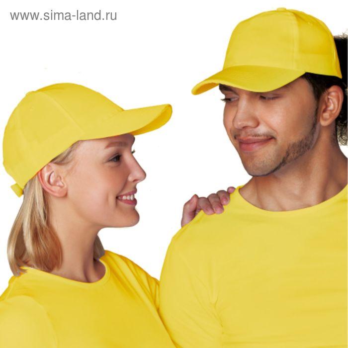 Бейсболка StanCap, one size, цвет жёлтый 150 г/м