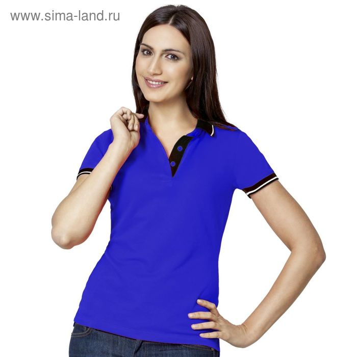 Рубашка-поло женская StanContrast, размер 46, цвет синий 185 г/м