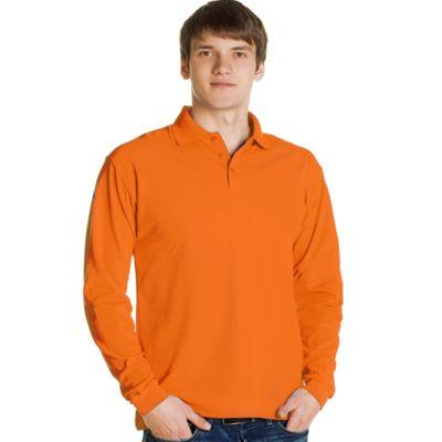 Рубашка-поло мужская StanPolo, размер 52, цвет оранжевый 185 г/м 04S
