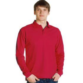Рубашка мужская, размер 46, цвет красный