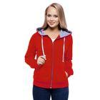 Толстовка женская StanCool, размер 44, цвет красный 260 г/м 61W