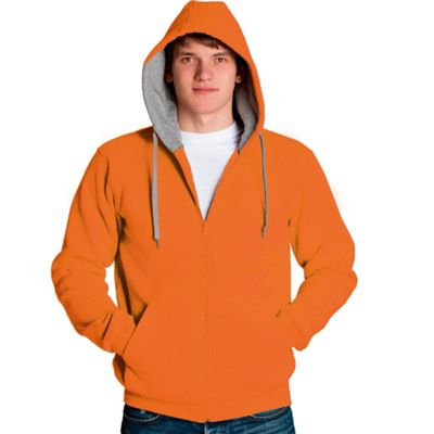 Толстовка мужская StanStyle, размер 50, цвет оранжевый-серый меланж 280 г/м 17