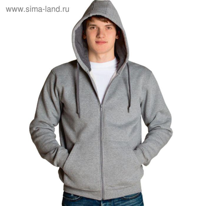Толстовка мужская StanStyle, размер 56, цвет серый меланж-тёмный меланж 280 г/м 17
