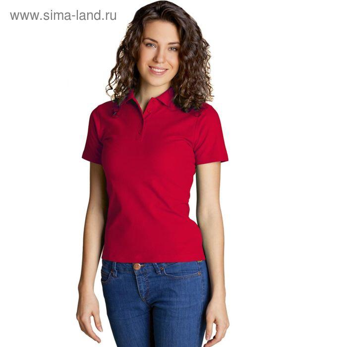 Рубашка-поло женская StanWomen,  размер 44, цвет красный 185 г/м 04WL