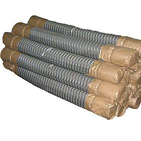 Сетка-рабица ячейка 55х55 мм, толщина 1,6мм, оцинкованная (размер рулона 1,5х10м)