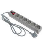 Сетевой фильтр UNIVersal 967U-5001, 6 розеток, 1.8 м, 10 А, ПВС 3x0.75, серый