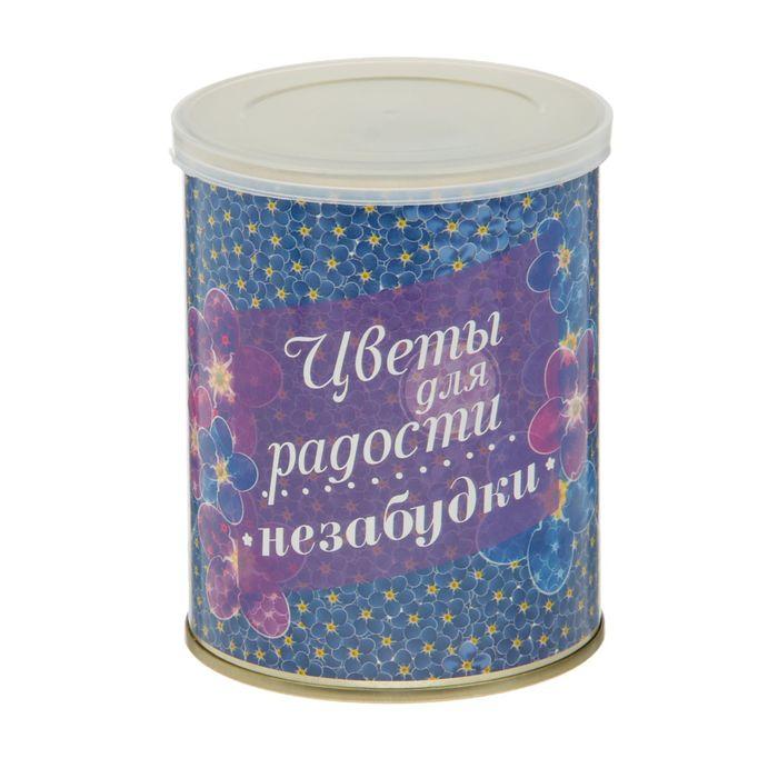 """Растущая травка в банке """"Цветы для радости"""" незабудки"""