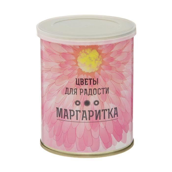 """Растущая травка в банке """"Цветы для радости"""" Маргаритки"""