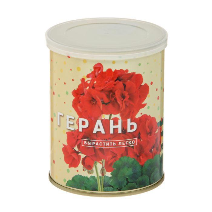 """Растущая травка """"Цветок в банке """"Герань"""""""