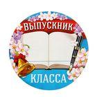 "Набор наклеек на одежду ""Выпускник __ класса"" 5 шт."