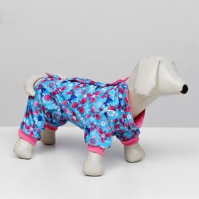 Jumpsuit fleece lining color, girl, size XS (DS 18cm, OSH 20-22cm, 30cm OG)