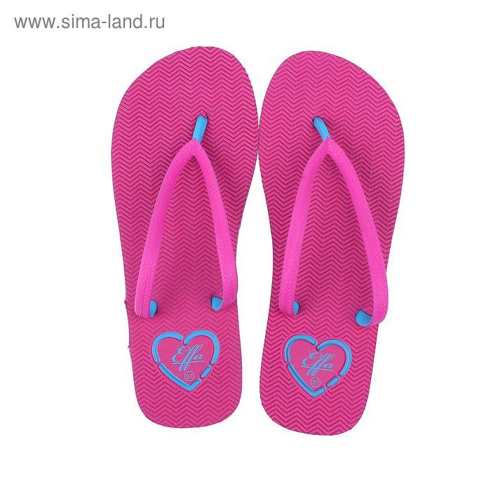 Туфли пляжные женские арт. 52312-TQ (малиновый) (р. 39)