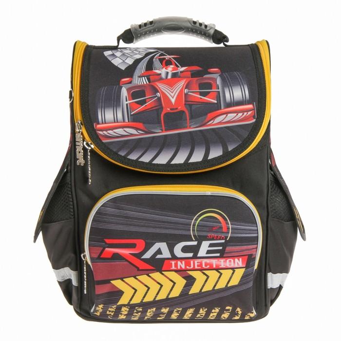 Ранец Smart PG-11 34*26*14 для мальчика Red race, черный
