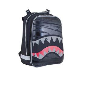 Рюкзак каркасный YES H-12 38 х 29 х 15 см, для мальчика, Shark, чёрный