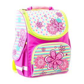 Ранец Стандарт Smart PG-11, 34 х 26 х 14, для девочки, Flowers, розовый