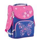 Ранец Стандарт Smart PG-11 34*26*14 дев Flower butterfly, голубой/р 553326