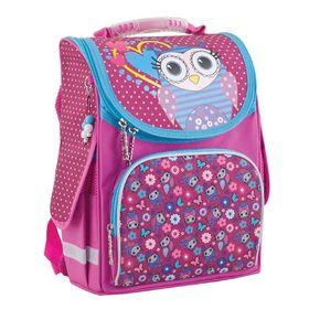 Рюкзак каркасный на молнии, 1 отдел, 3 наружных кармана, цвет розовый