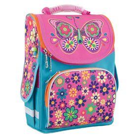 Ранец Стандарт Smart PG-11, 34 х 26 х 14, для девочки Butterfly, розовый/голубой