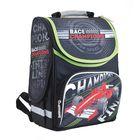 Рюкзак каркасный на молнии, 1 отдел, 3 наружных кармана, цвет чёрный