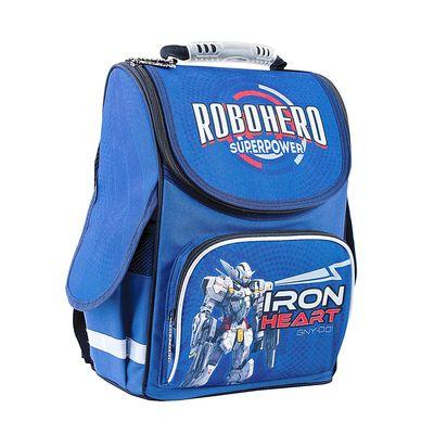 Ранец Smart PG-11 34*26*14 для мальчика, RoboHero, синий