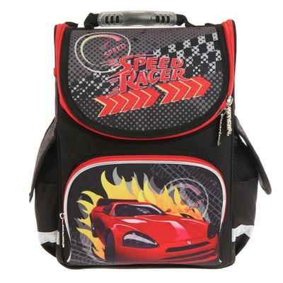 Ранец Smart PG-11 34*26*14 для мальчика, Speed race, черный