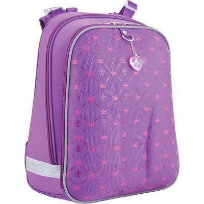 Рюкзак каркасный YES H-12 38*29*15 для девочки Pattern, сиреневый