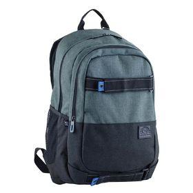Рюкзак молодёжный Yes T-35 49 х 33 х 14 см, эргономичная спинка, отделение для ноутбука, George, серый/зелёный