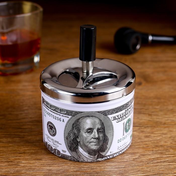 """Пепельница бездымная """"Валюта. 100 долларов"""""""