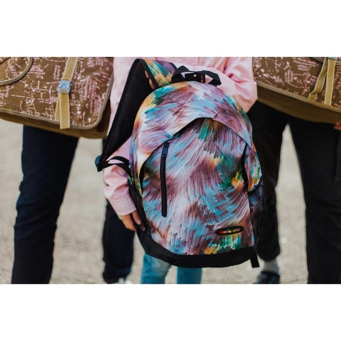 Рюкзак школьный, отдел на молнии, наружный карман, 2 боковых сетки, цвет коричневый - фото 666177674