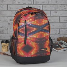 Рюкзак подр Космос 31*13,5*43,5 отдел на молнии нар карман 2 бок сетки оранжевый Ош