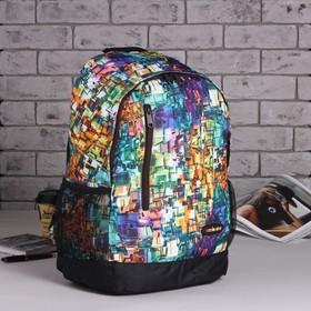 Рюкзак подр Пиксель 31*13,5*43,5 отдел на молнии нар карман 2 бок сетки зелёный Ош