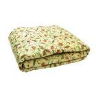 Одеяло облегченное 2сп 172х205 овечья шерсть 200г/м, тик 150г/м, хл100%