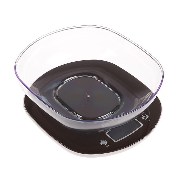 Весы кухонные Centek CT-2456, электронные, до 7 кг, коричневые
