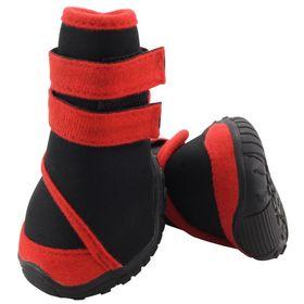 Ботинки Triol мягкие для собак XL , неопрен на липучках,  красные
