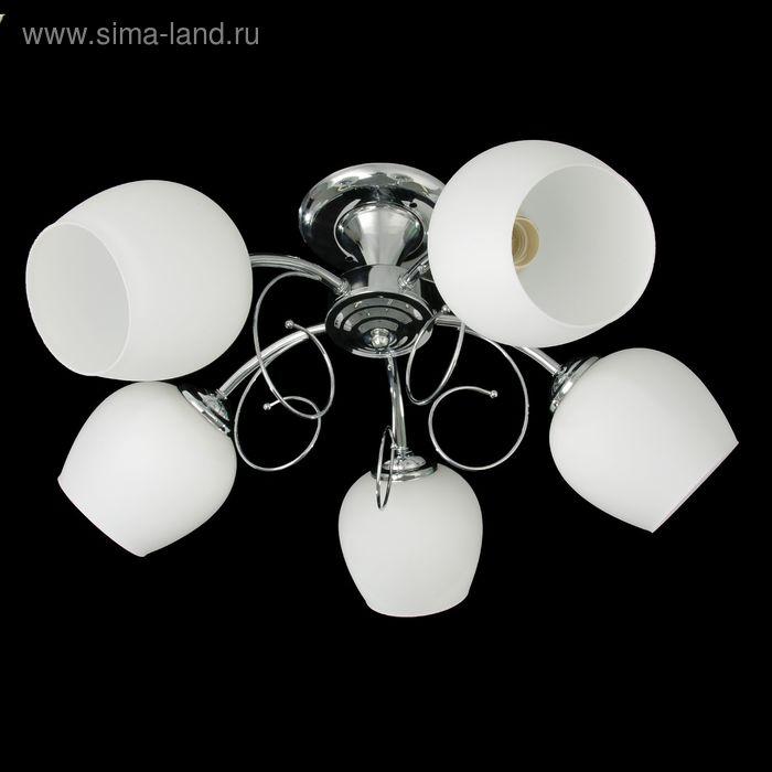 """Люстра """"Георгина"""" 5 ламп 60W Е27 Хром 52х52х24 см"""