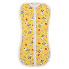 Пеленка-кокон на молнии, рост 50-62 см, цвет жёлтый, принт микс 1129_М