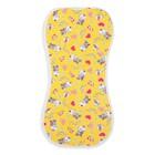 Пеленка-кокон на молнии, рост 50-62 см, кулирка, цв жёлтый, принт микс 1129_М - фото 105553683