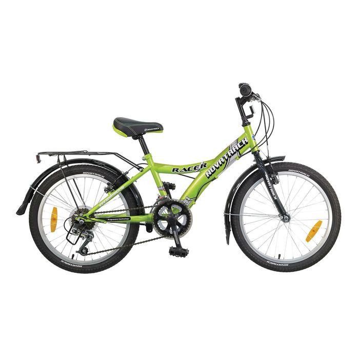 """Велосипед 20"""" Novatrack Racer, 2017, 12ск., цвет зелёный"""