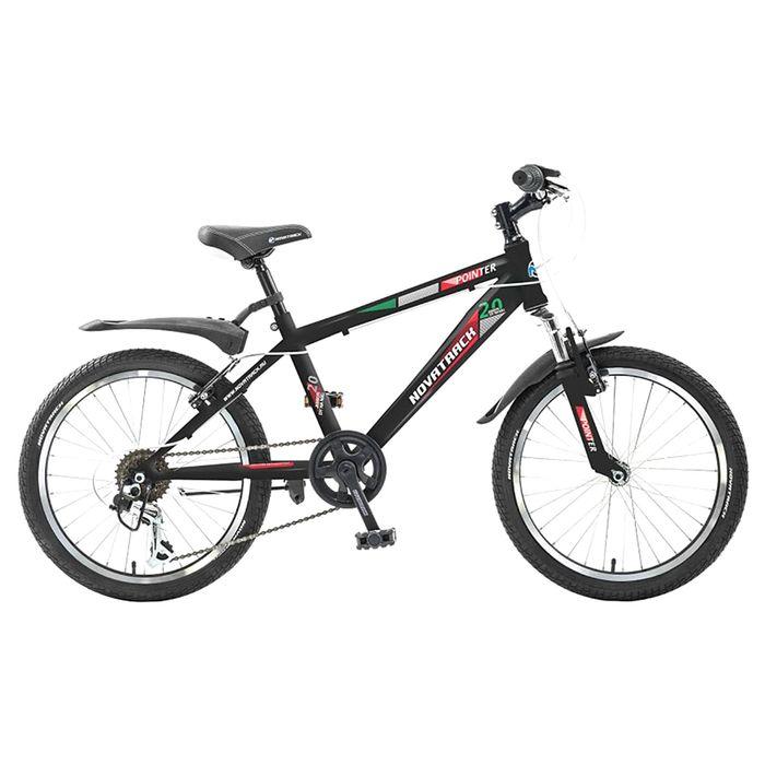 """Велосипед 20"""" Novatrack POINTER, 2017, 6ск., цвет чёрный"""