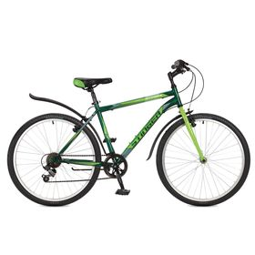 "Велосипед 26"" Stinger Defender, 2017, цвет зелёный, размер 20"""