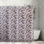 """Штора для ванной 180х180 см """"Сиреневые цветы"""", PEVA"""