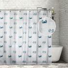 """Штора для ванной 180×180 см """"Крабы"""", PEVA"""