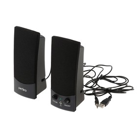 Computer speakers 2.0 Perfeo UNO PF-210, 2x0.5 W, USB, black.