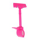 Держатель ценника с зажимом d=3,5 cм, 8.5*7*17 см, цвет розовый