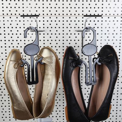 Вешалка для обуви L=18.5, (фасовка 10 шт), цвет чёрный