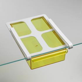 Полка подвесная в холодильник, 21×15×7 см, цвет МИКС