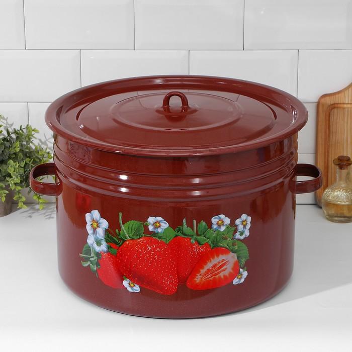 Бак Клубника садовая(коричневый) 32 л эм.крышка